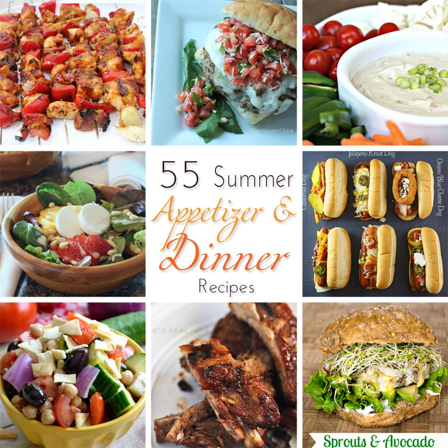 55 Summer Appetizer & Dinner Recipes www.kleinworthco.com