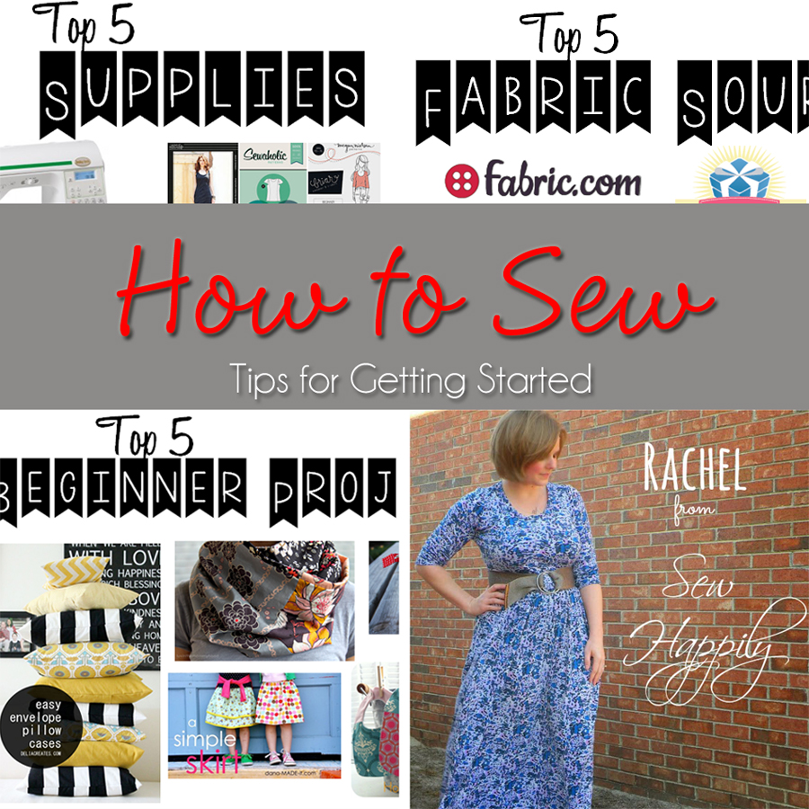 How to Sew ~ Tips for Getting Started www.kleinworthco.com