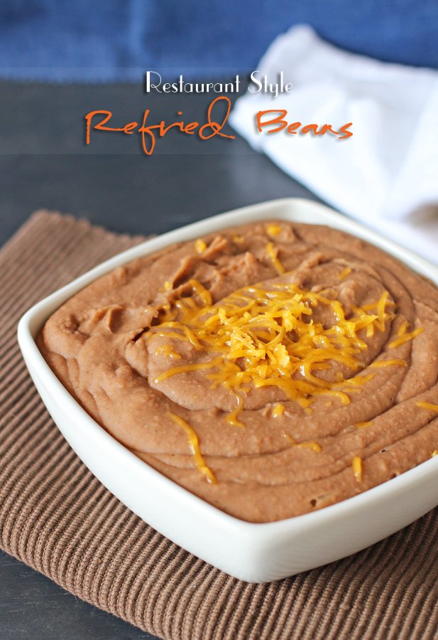 Restaurant Style Refried Beans from Gina @ Kleinworth & Co.