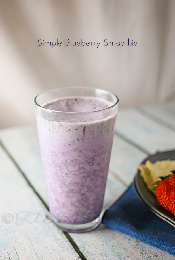 Simple Blueberry Smoothie from www.kleinworthco.com