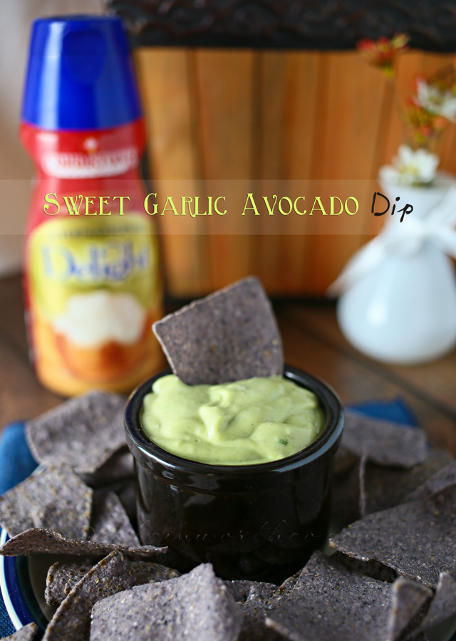 Sweet Garlic Avocado Dip www.kleinworthco.com