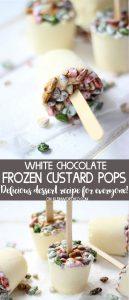 White Chocolate Custard Frozen Pops