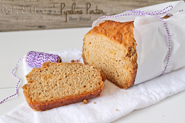 garlic & cheddar beer bread