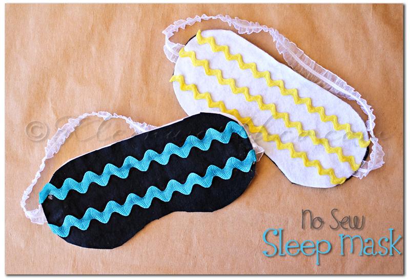 No Sew Sleep Mask