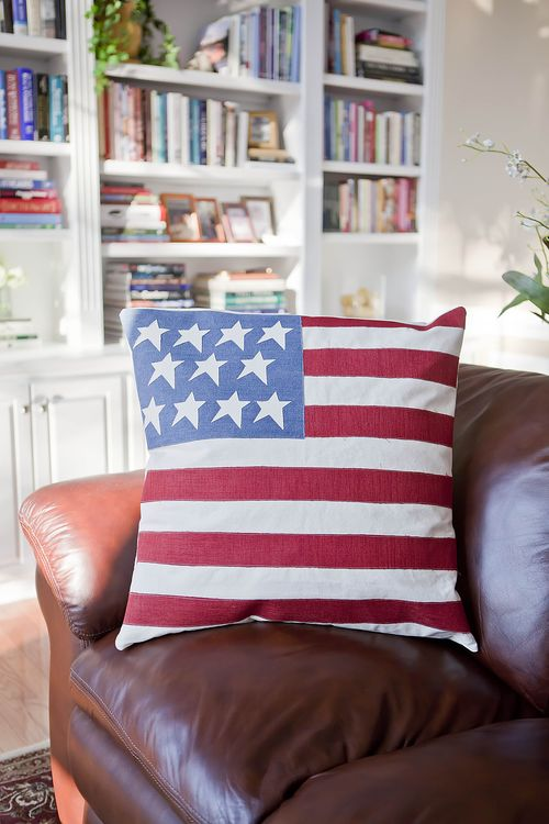 Old Glory Patriotic Pillow