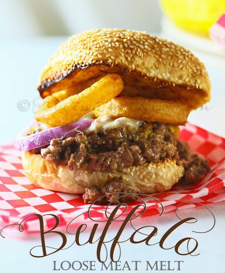 Buffalo Loose Meat Melt #SayCheeseburger #CollectiveBias