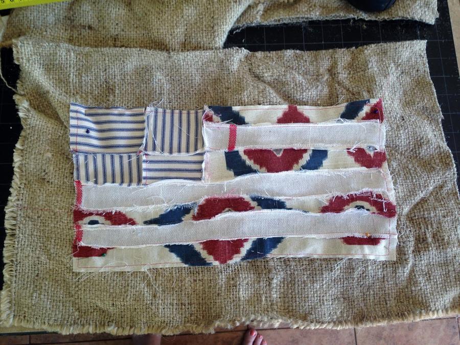 DIY Scrappy Flag Pillow