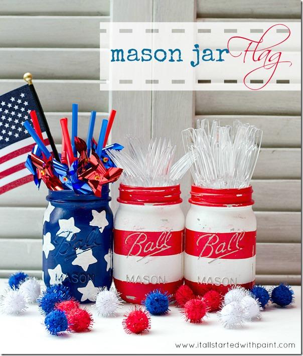 Mason Jar Flag
