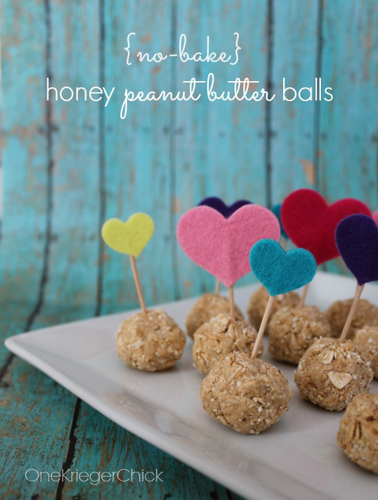No Bake Honey Peanut Butter Balls from One Krieger Chick