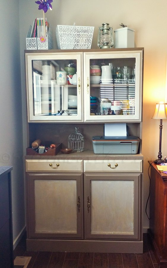 Metallic Hutch Make Over