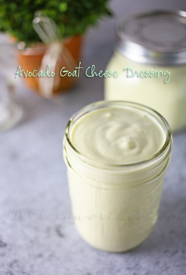 Avocado Goat Cheese Dressing