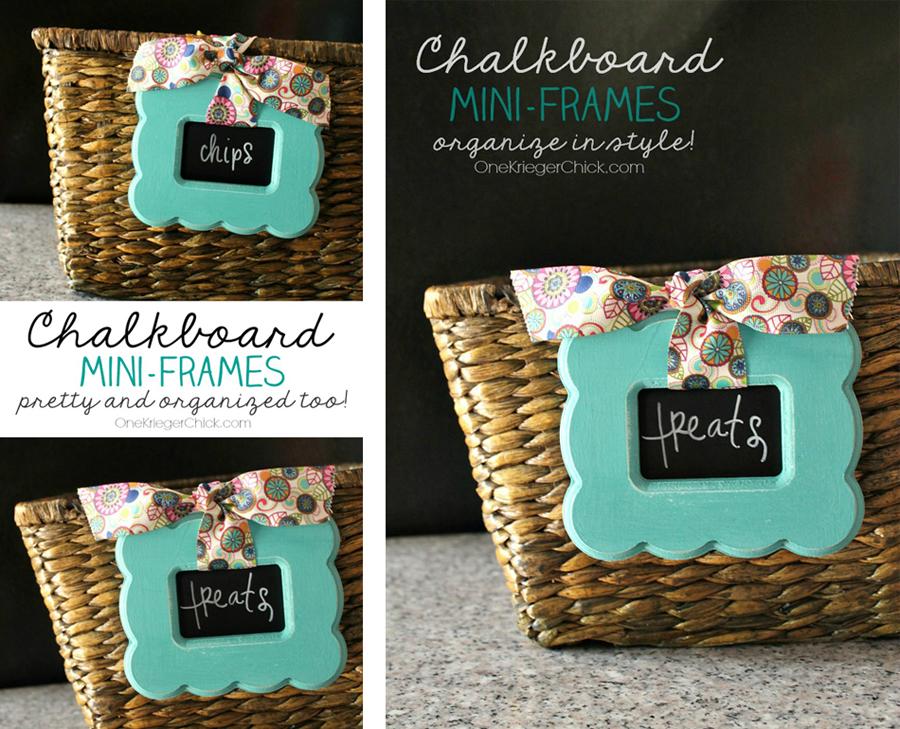 Chalkboard Mini Frames