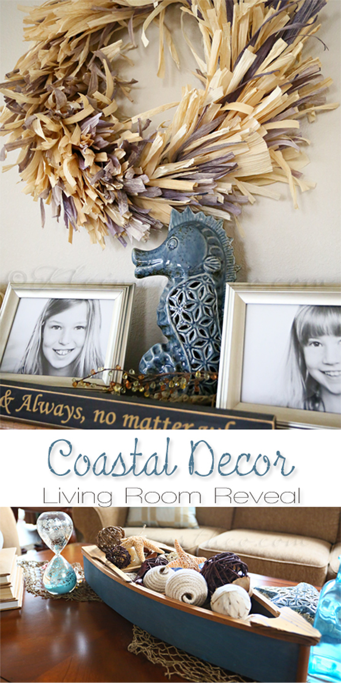 Coastal Decor {Living Room Reveal}