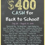 Back to School {$400 CASH GIVEAWAY}