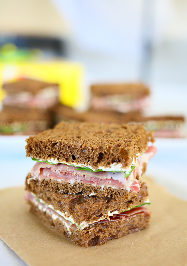 Prosciutto & French Onion Tea Sandwiches{Summer Refreshments} #TEArifficPairs