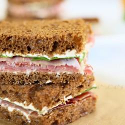 Prosciutto & French Onion Tea Sandwiches