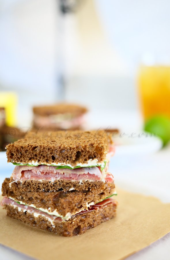 Prosciutto & French Onion Tea Sandwiches {Summer Refreshments} #TEArifficPairs