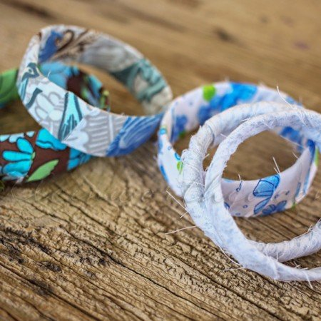 Rag Wrapped Bracelets {Back to School Craft}