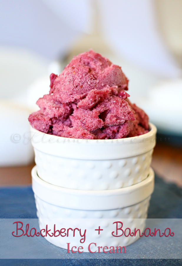 Blackberry & Banana Ice Cream