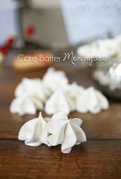 Cake Batter Meringues