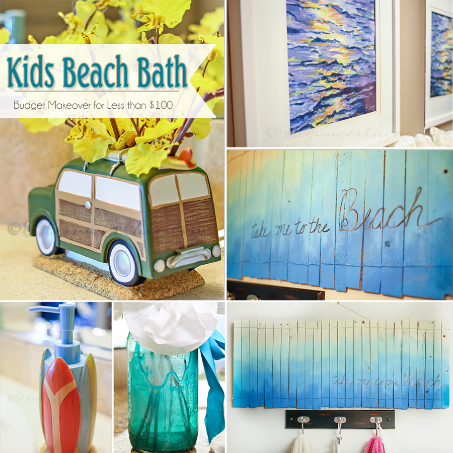 Kids Beach Bath {Get the Look for less than $100}