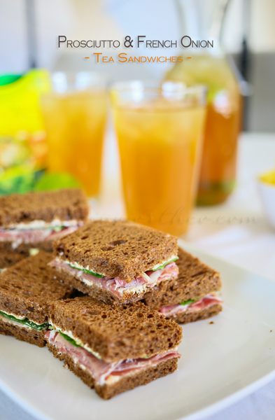 Prosciutto & French Onion Tea Sandwiches