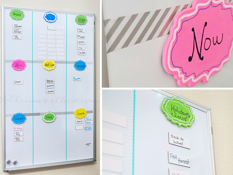 Simple White Board Organizer
