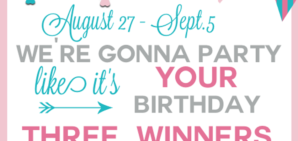 Blogger Birthday Giveaway {$950 in Prizes!!}