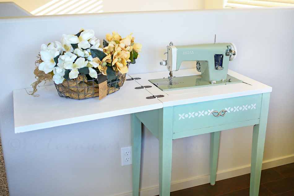 Antique sewing table makeover kleinworth co watchthetrailerfo