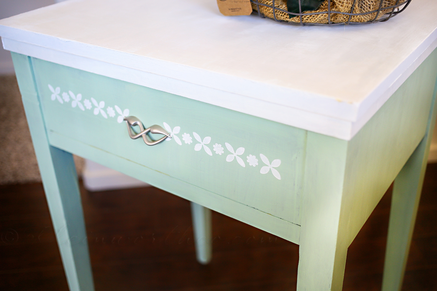 Antique Sewing Table Makeover
