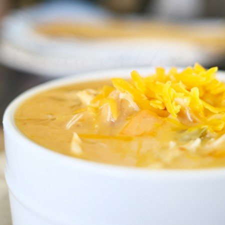 Jalapeno Cheddar Chicken Soup - in the crock pot