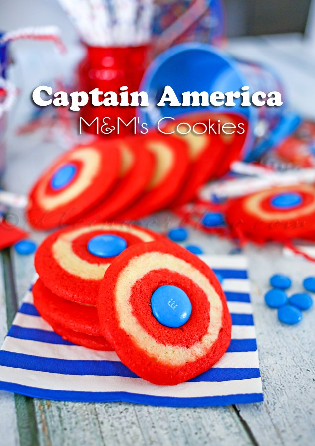 Captain America M&M's Cookies