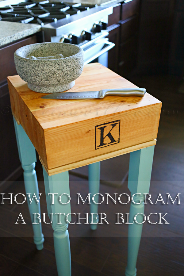 How to Monogram a Butcher Block