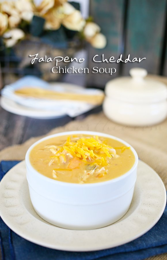 Jalapeno Cheddar Chicken Soup