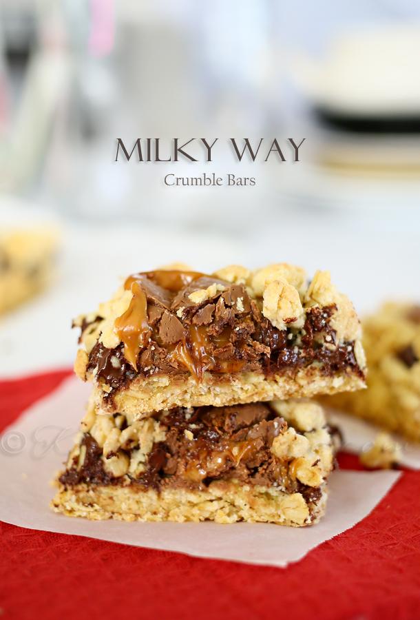 Milky Way Crumble Bars