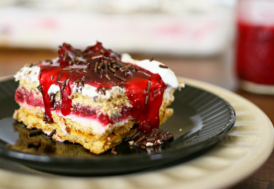 Cherry Pie Ice Box Cake