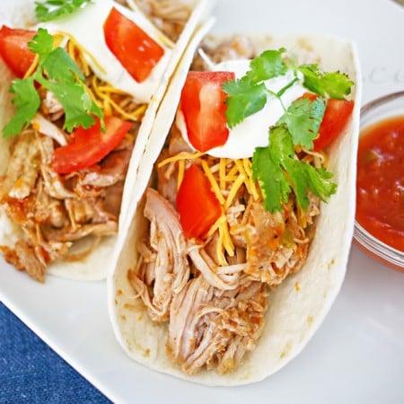 Salsa Pulled Pork Tacos
