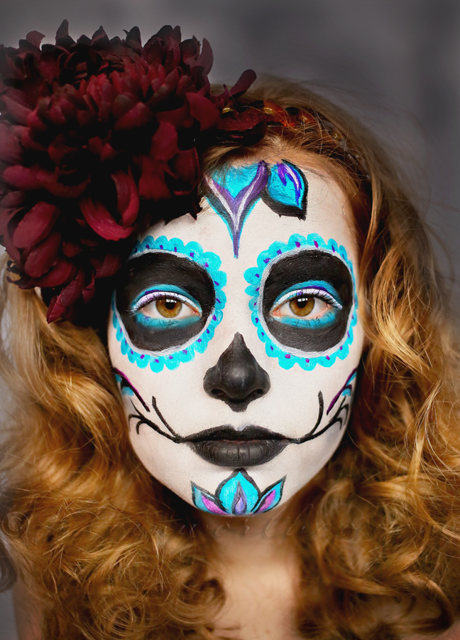 day of the dead face paint tutorial - Halloween Day Of The Dead Face Paint