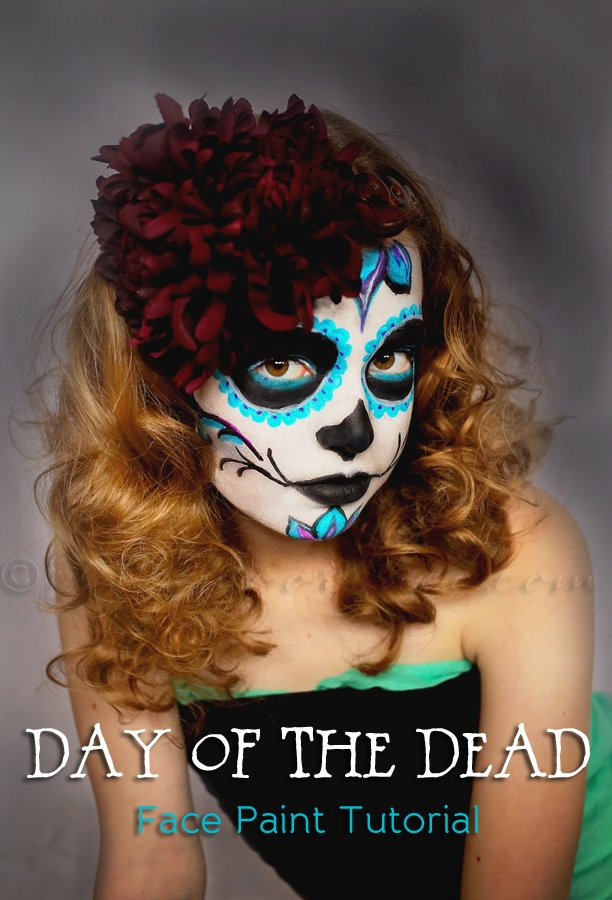 Day of the dead face paint tutorial kleinworth co for 1 day paint