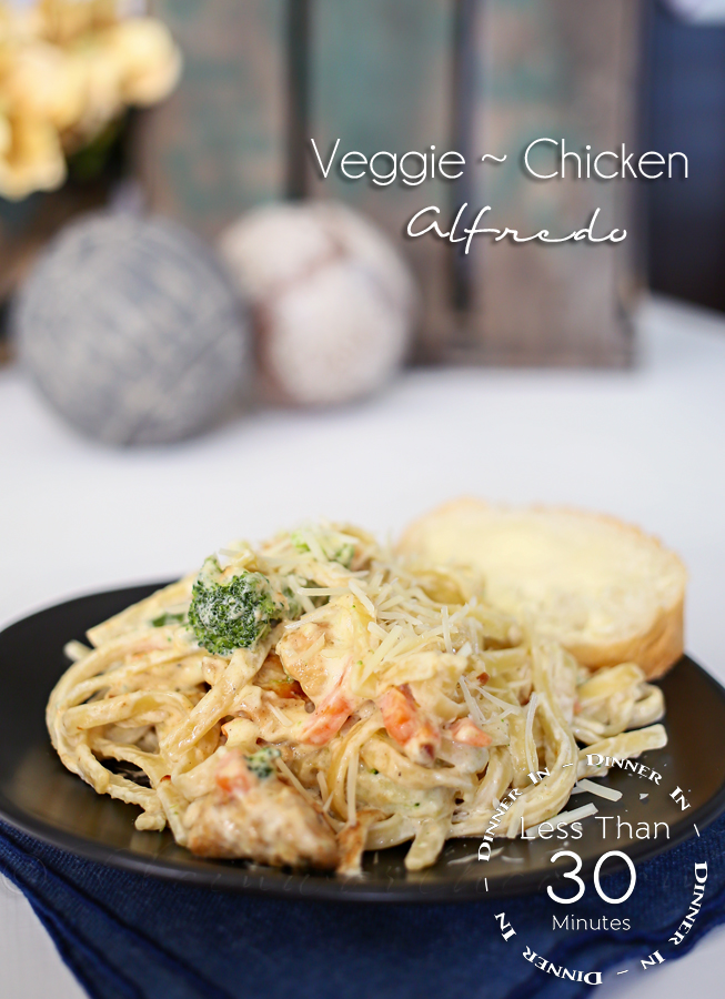 Veggie Chicken Alfredo