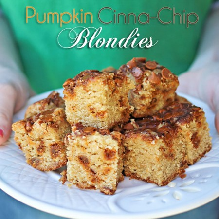 Pumpkin Cinnachip Blondies