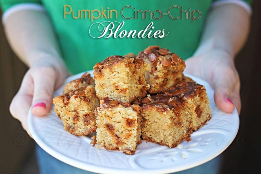 Pumpkin Cinnachip Blondies