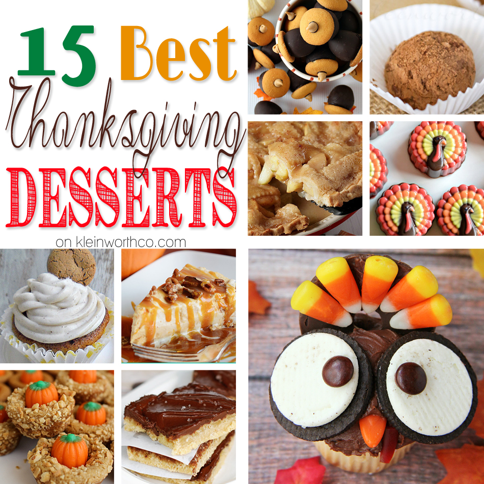 15 Best Thanksgiving Desserts