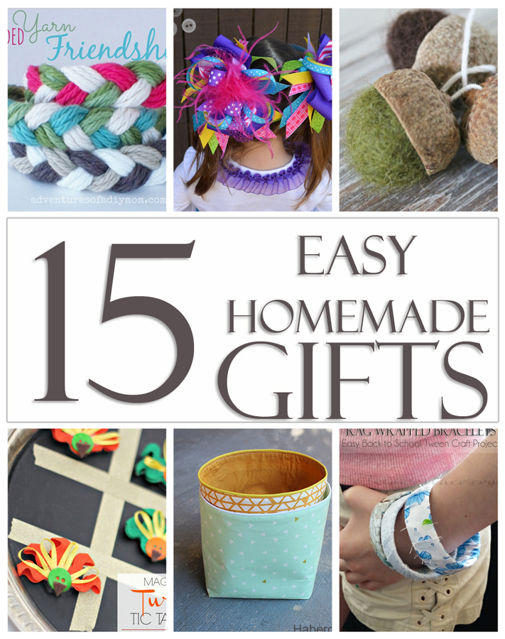 15 Easy Homemade Gifts