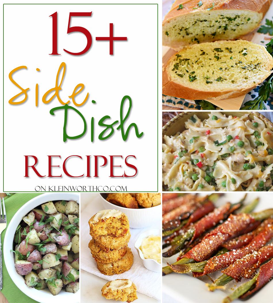 15+ Side Dish Recipes