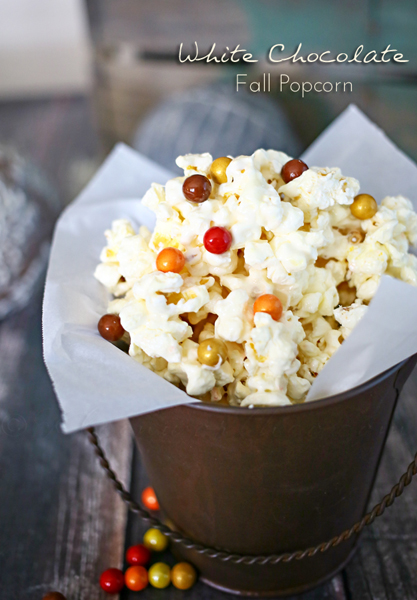 White Chocolate Fall Popcorn