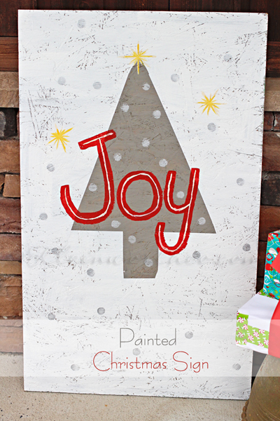 painted Christmas sign from kleinworthco.com