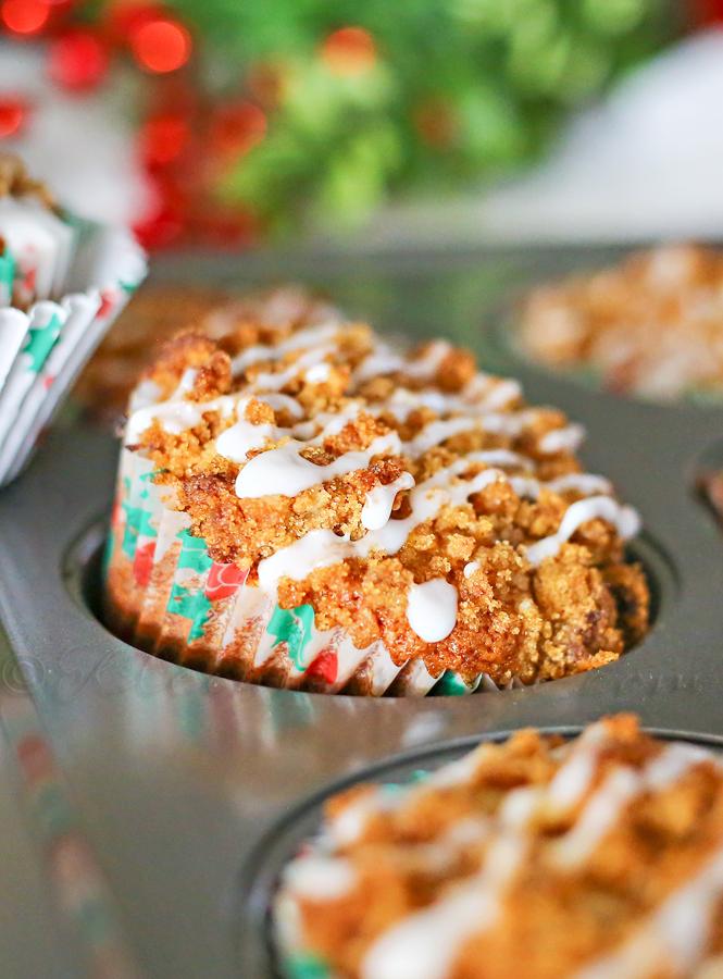 Gingerbread Eggnog Muffins
