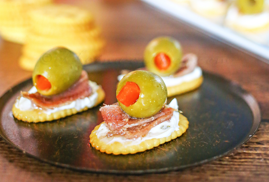 Anchovies & Olive Appetizer