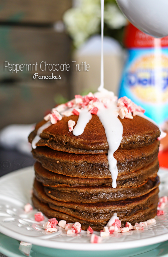 Peppermint Chocolate Truffle Pancakes
